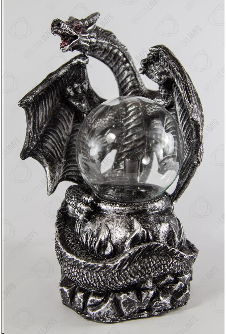 Электрический плазменный шар Дракон Silver (D -8см)