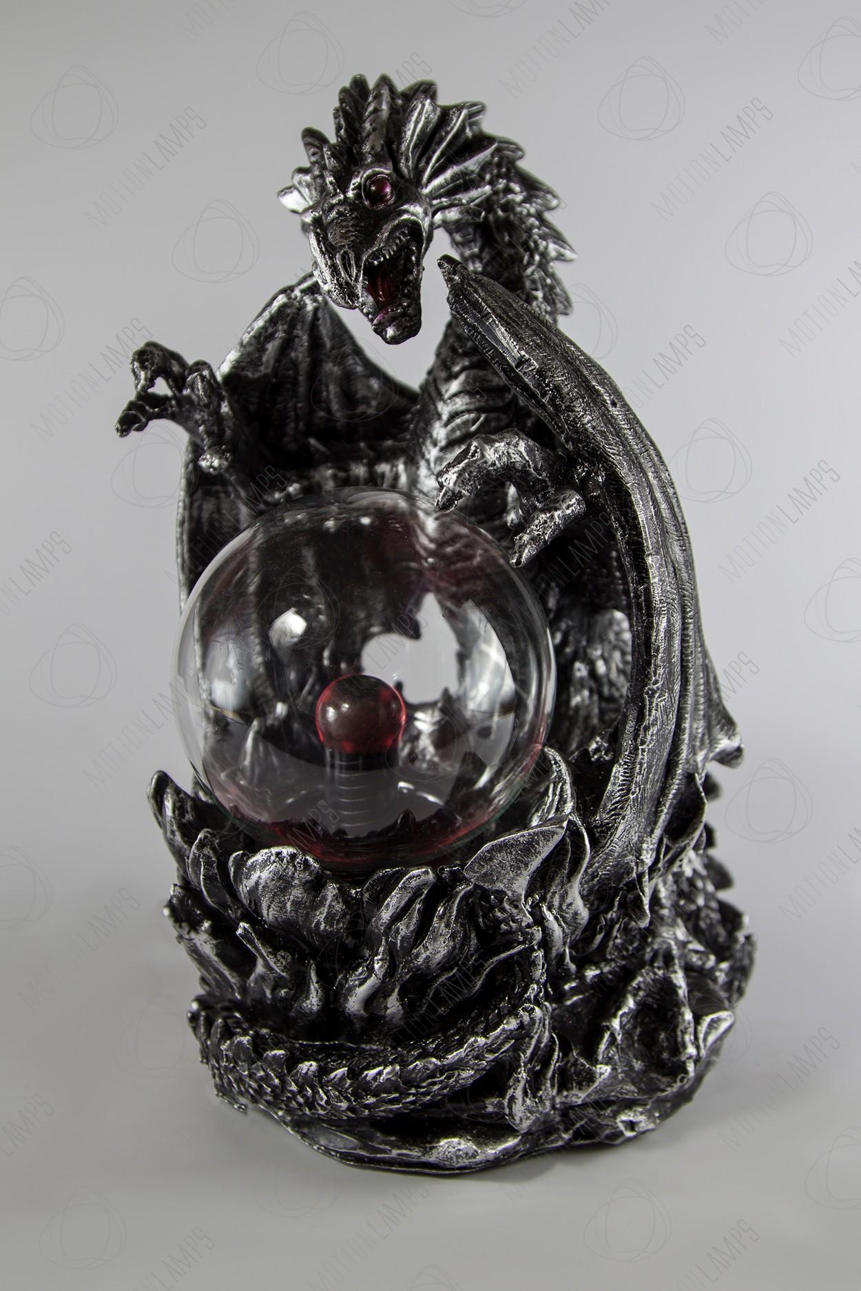 Магический плазменный шар Дракон Silver (D -10см)