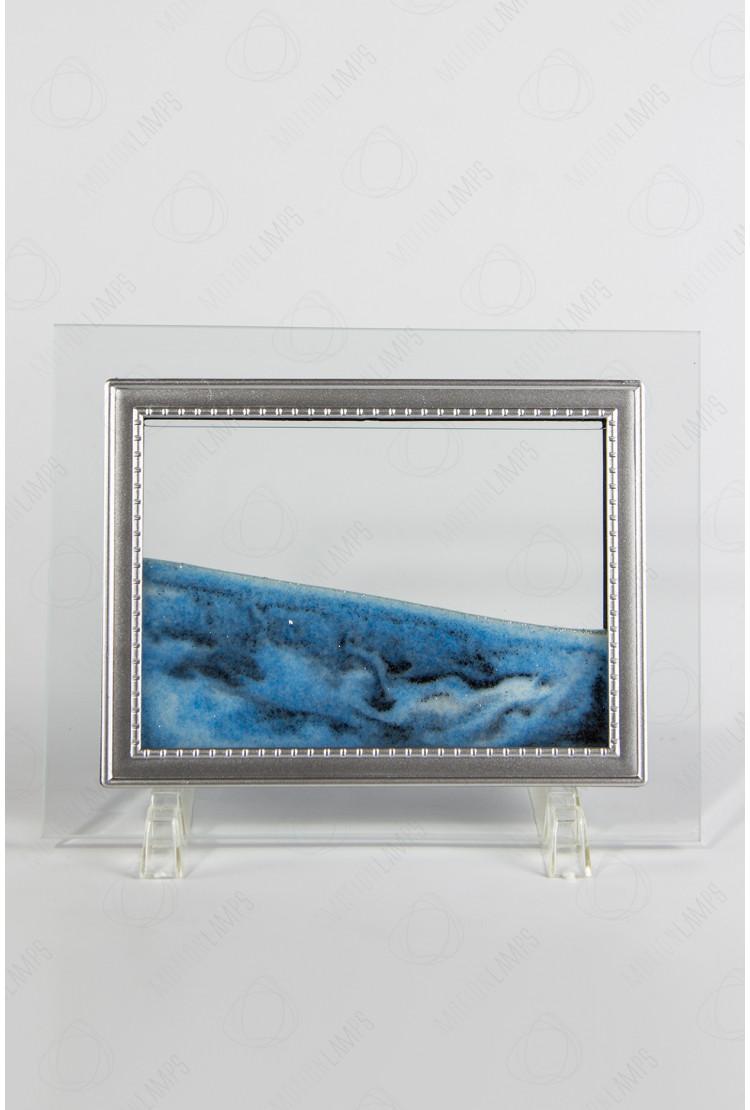 """Песочная картина """"Живой пейзаж"""" 13х17 голубая"""
