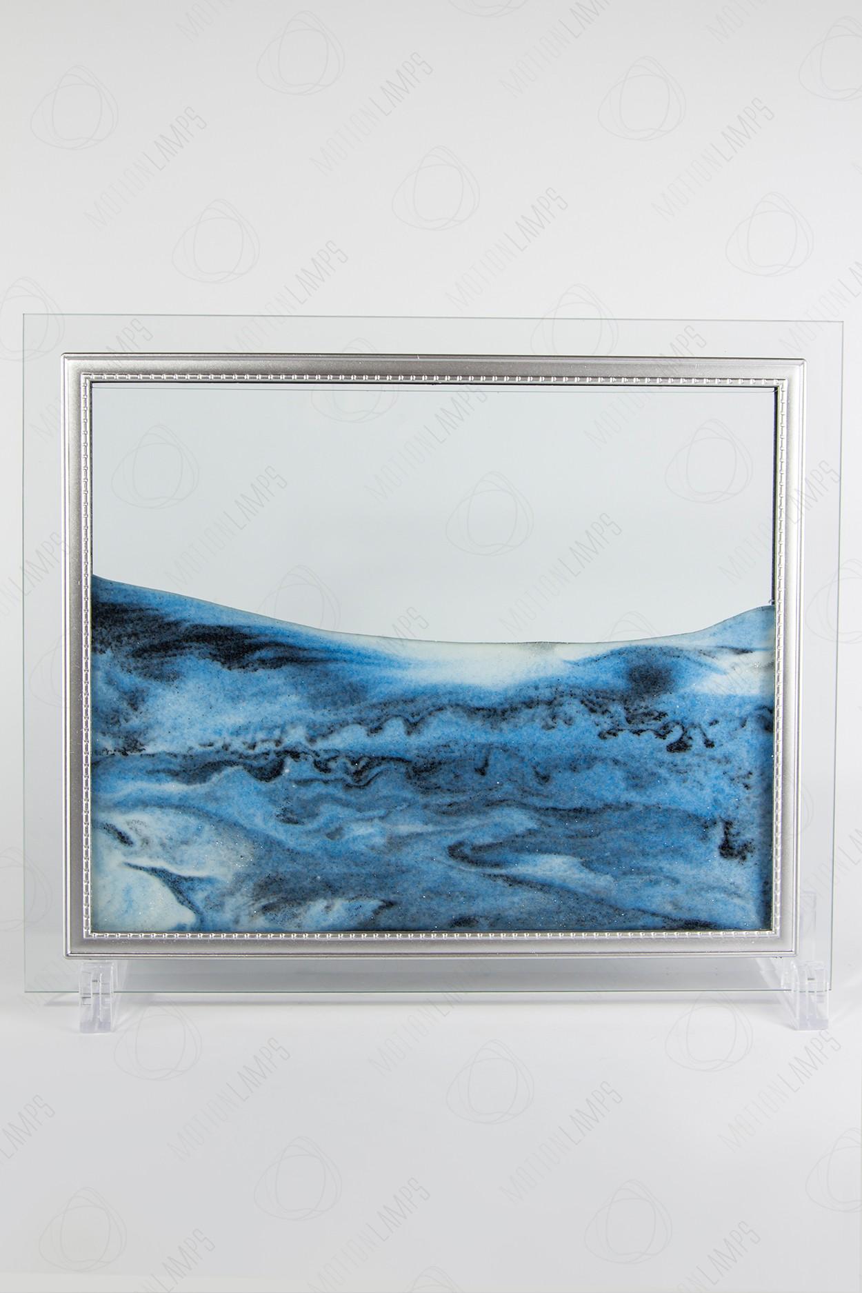 "Песочная картина ""Живой пейзаж"" 25х30 синяя"