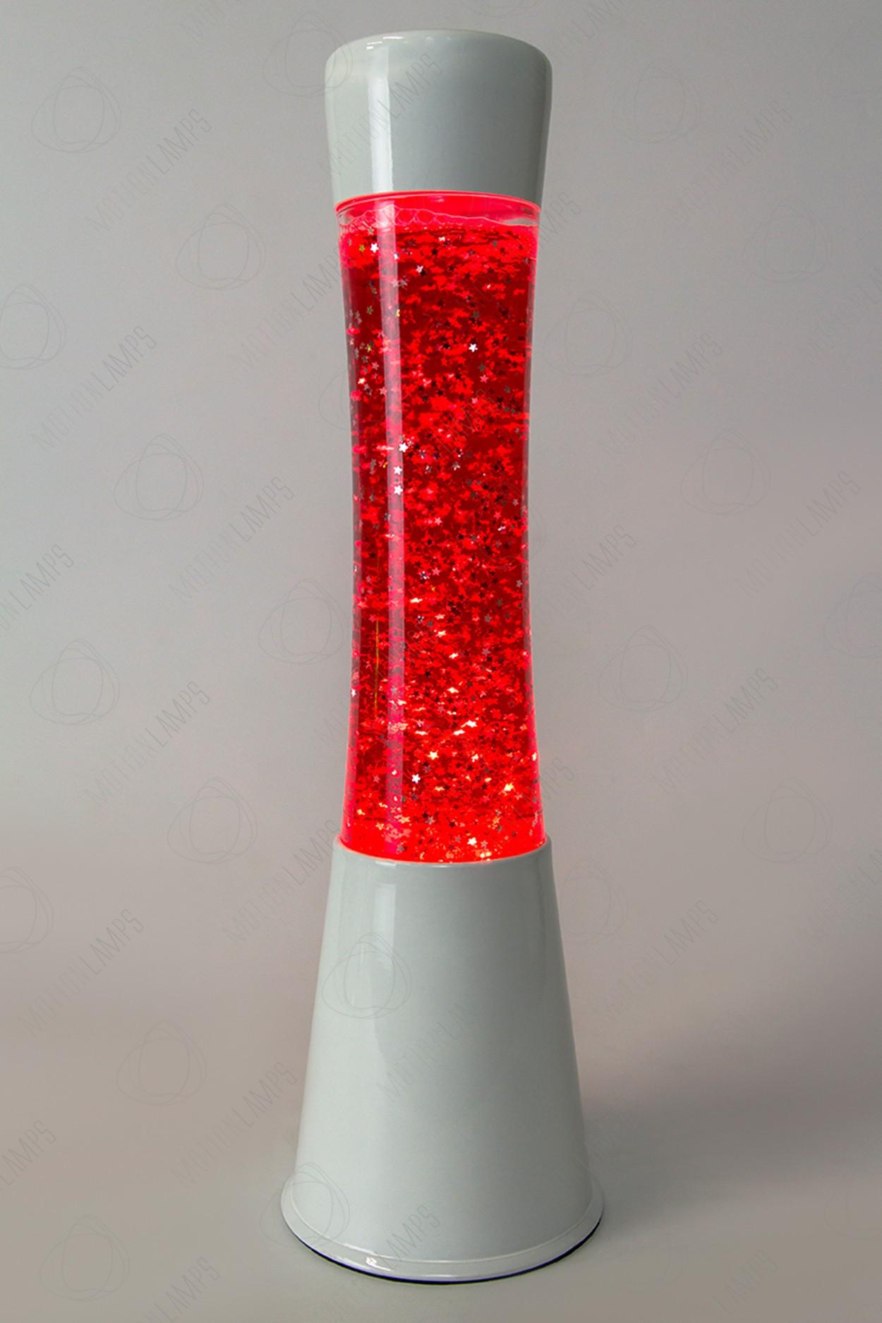 Лава-лампа 39см CG-W Красная/Блёстки (Глиттер)
