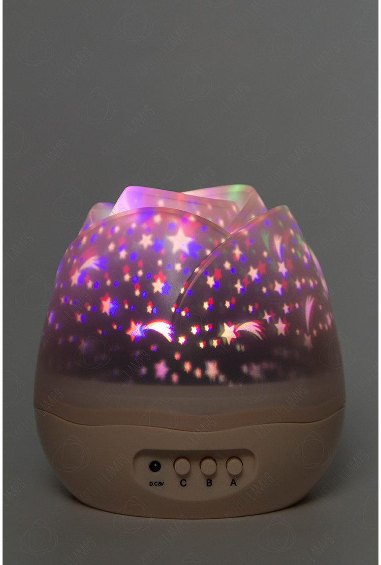 Проектор звёздного неба «Flower» розовый