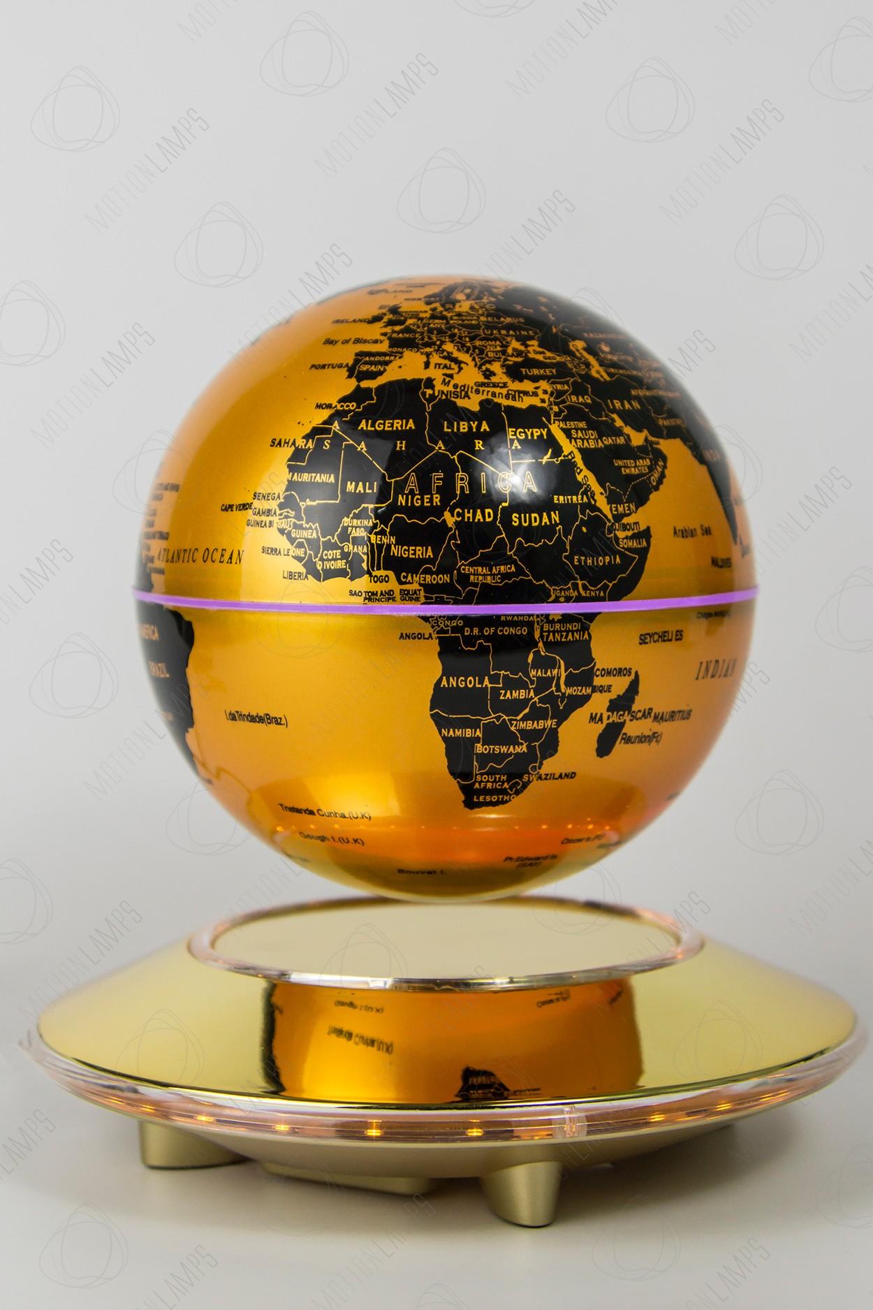 Летающий глобус Золотой (D-14см)
