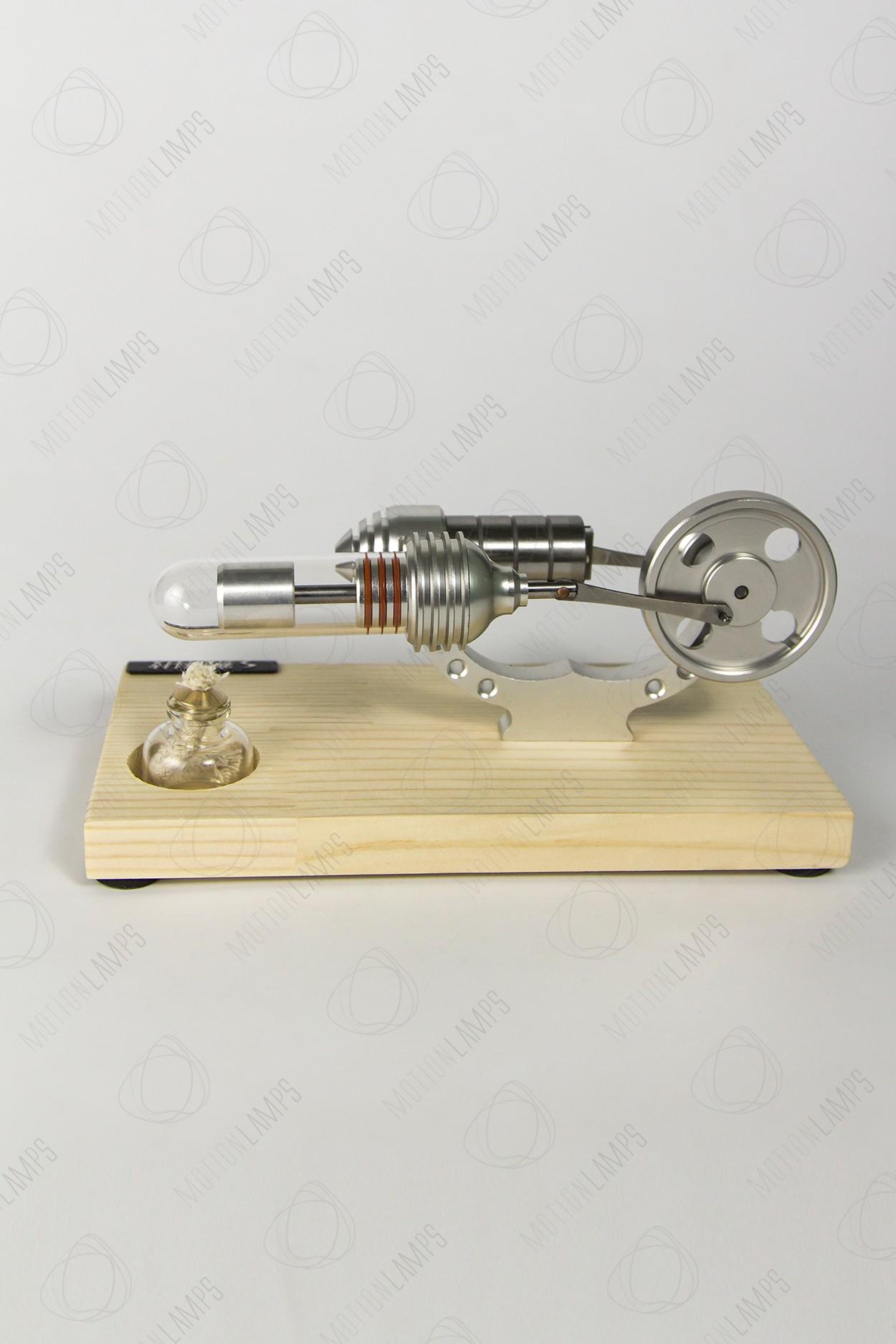 Двигатель Стирлинга на деревянной подставке - 2