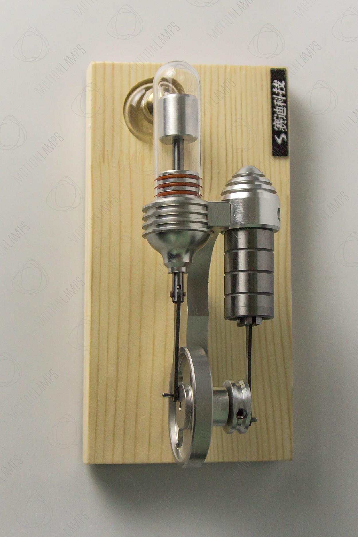 Двигатель Стирлинга на деревянной подставке - 3