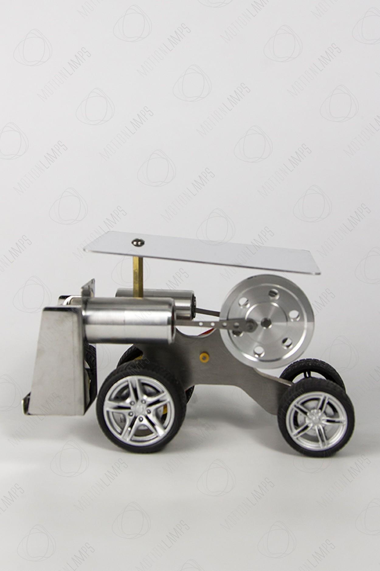 """Двигатель Стирлинга """"Машинка на резиновых колесах"""""""