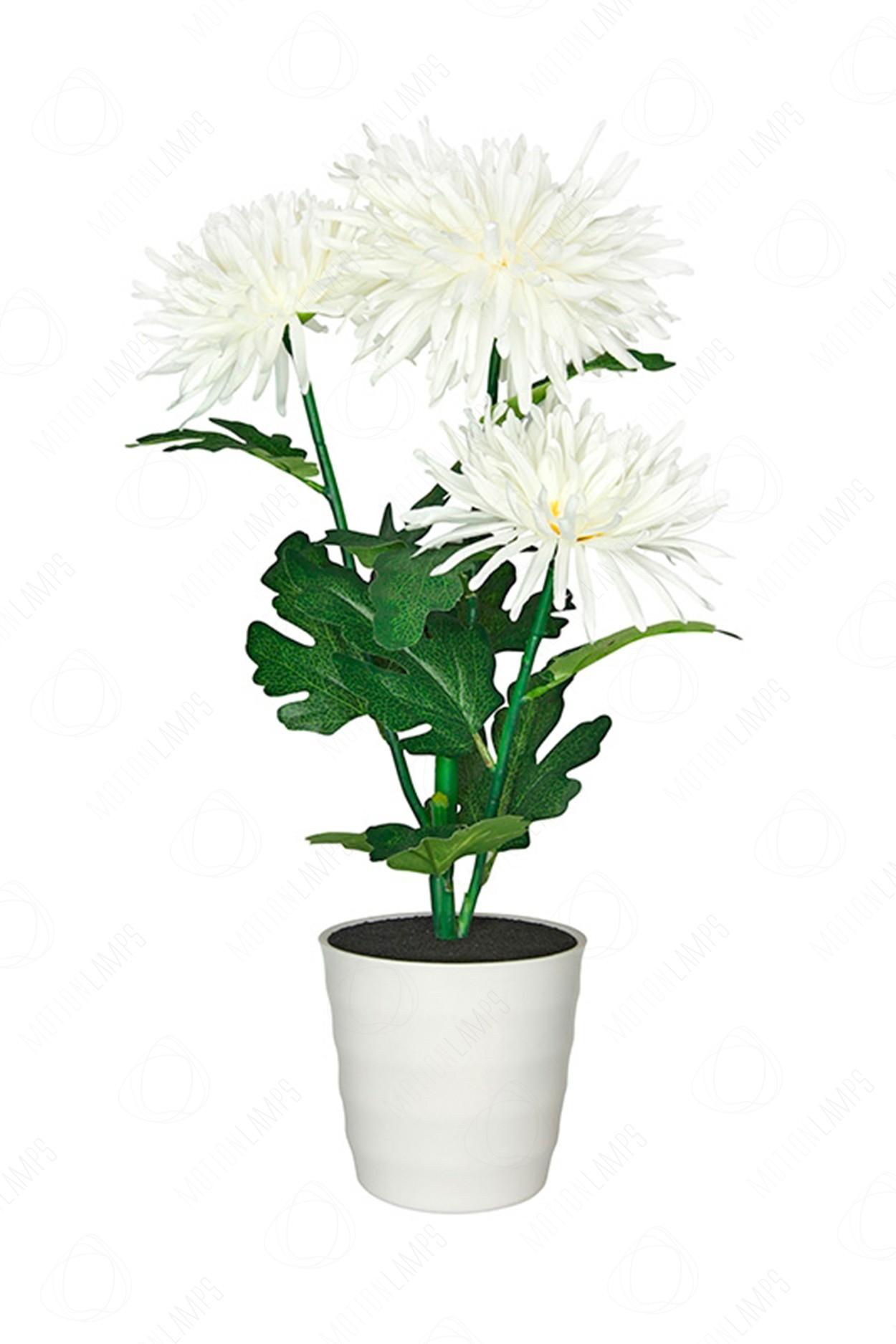 Светильник Хризантема белая
