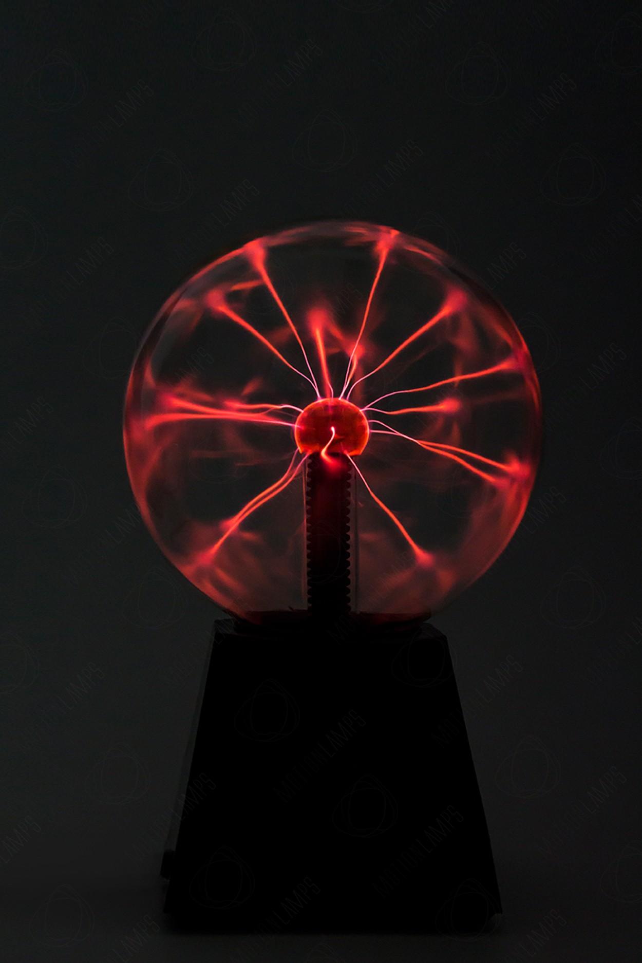 Электрический плазменный шар (D - 15см) Красный