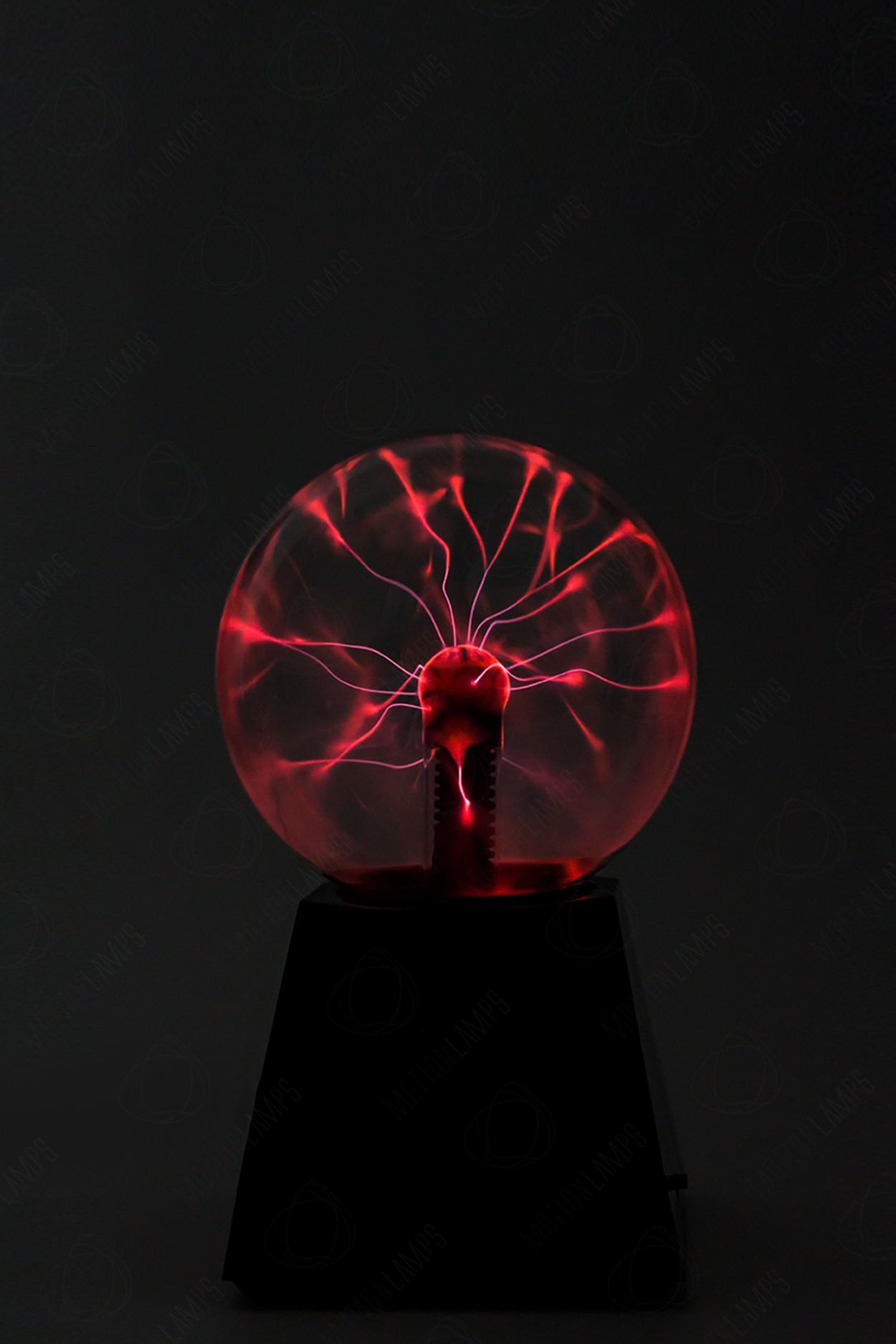 Электрический плазменный шар (D - 12см) Красный
