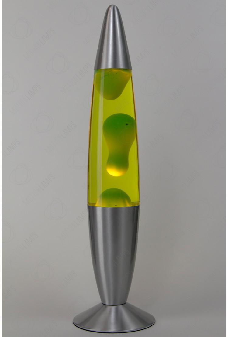 Лава-лампа 48см Зелёная/Жёлтая (Воск)