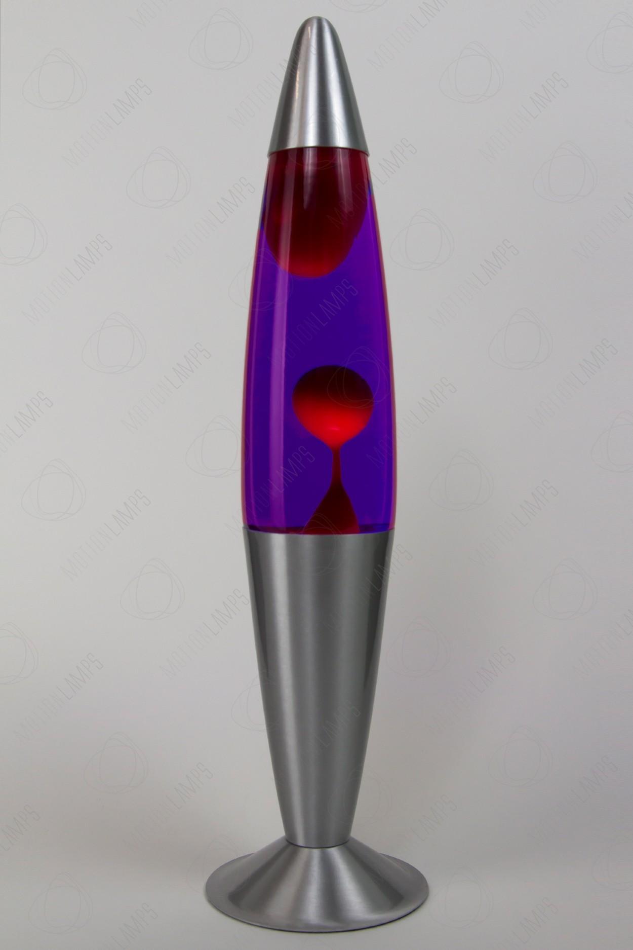 Лава-лампа 41см Красная/Фиолетовая (Воск)