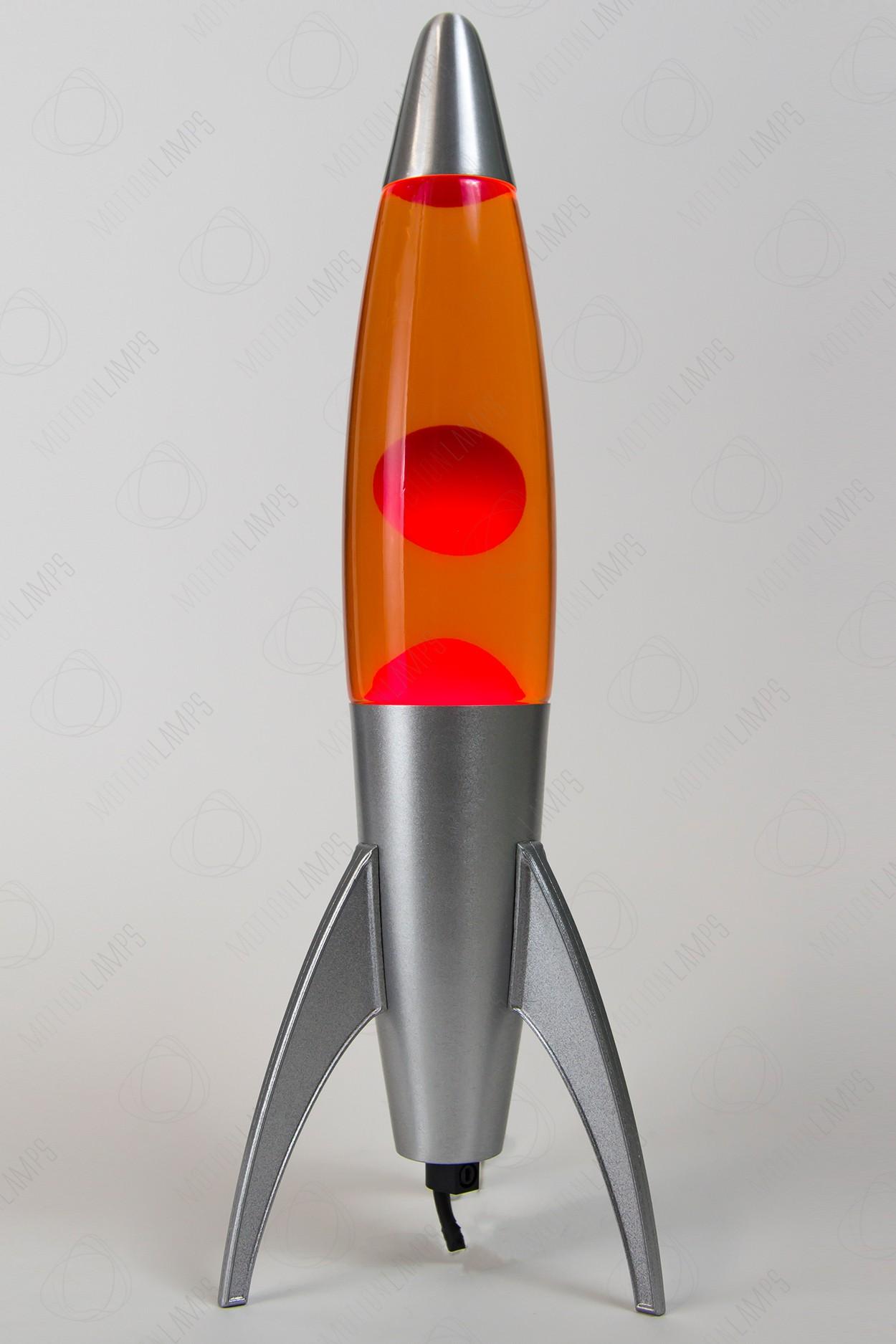 Лава-лампа 35см Rocket Красная/Оранжевая (Воск)