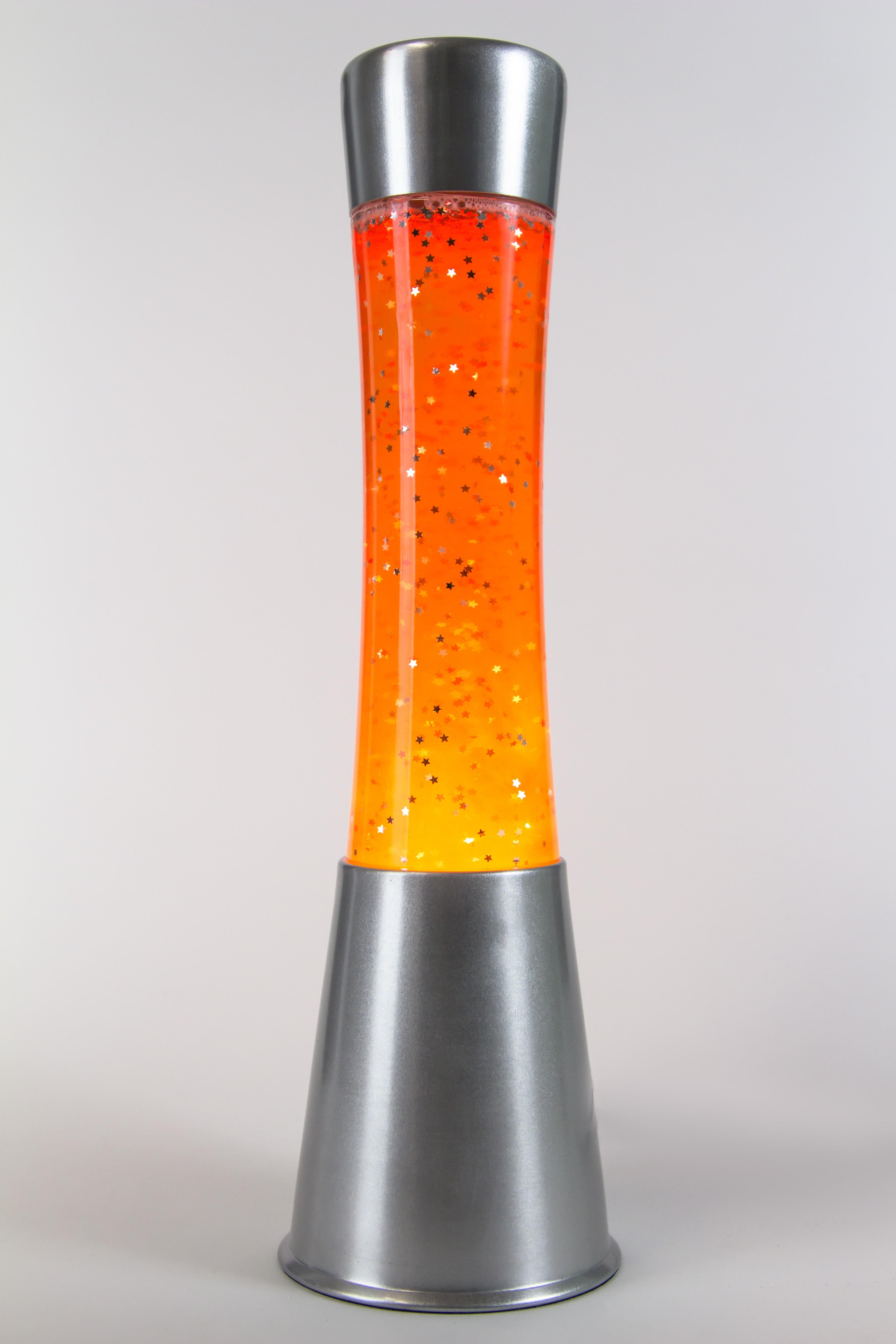 Лава-лампа 39см CG-S Оранжевая/Блёстки