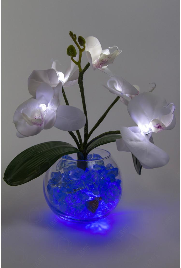 Светильник Орхидея фиолетовый 5 цветков