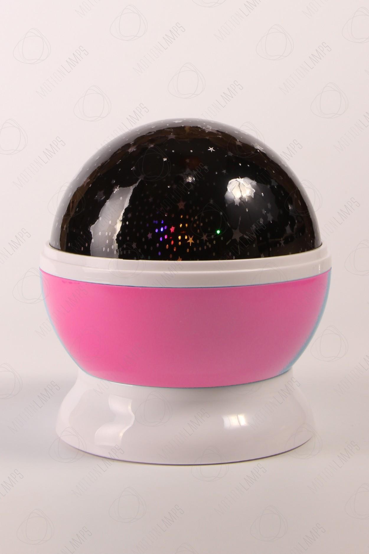 Ночник-проектор звездного неба «Dream» розовый