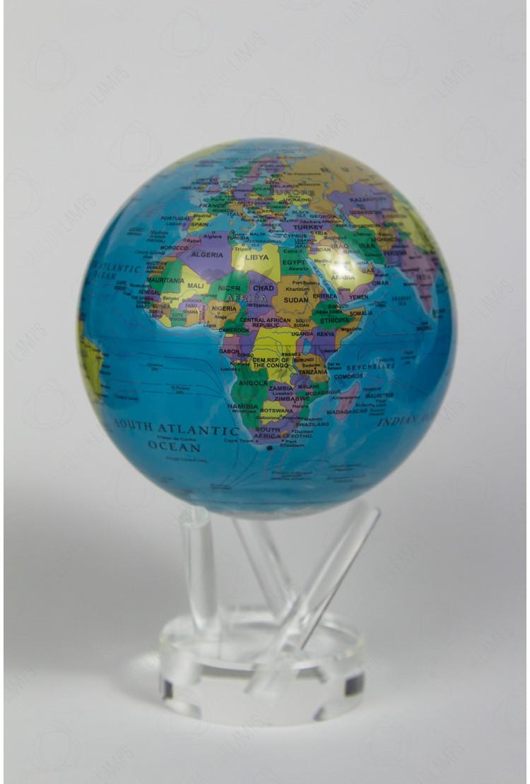 Самовращающийся глобус Mova d12 с политический картой мира