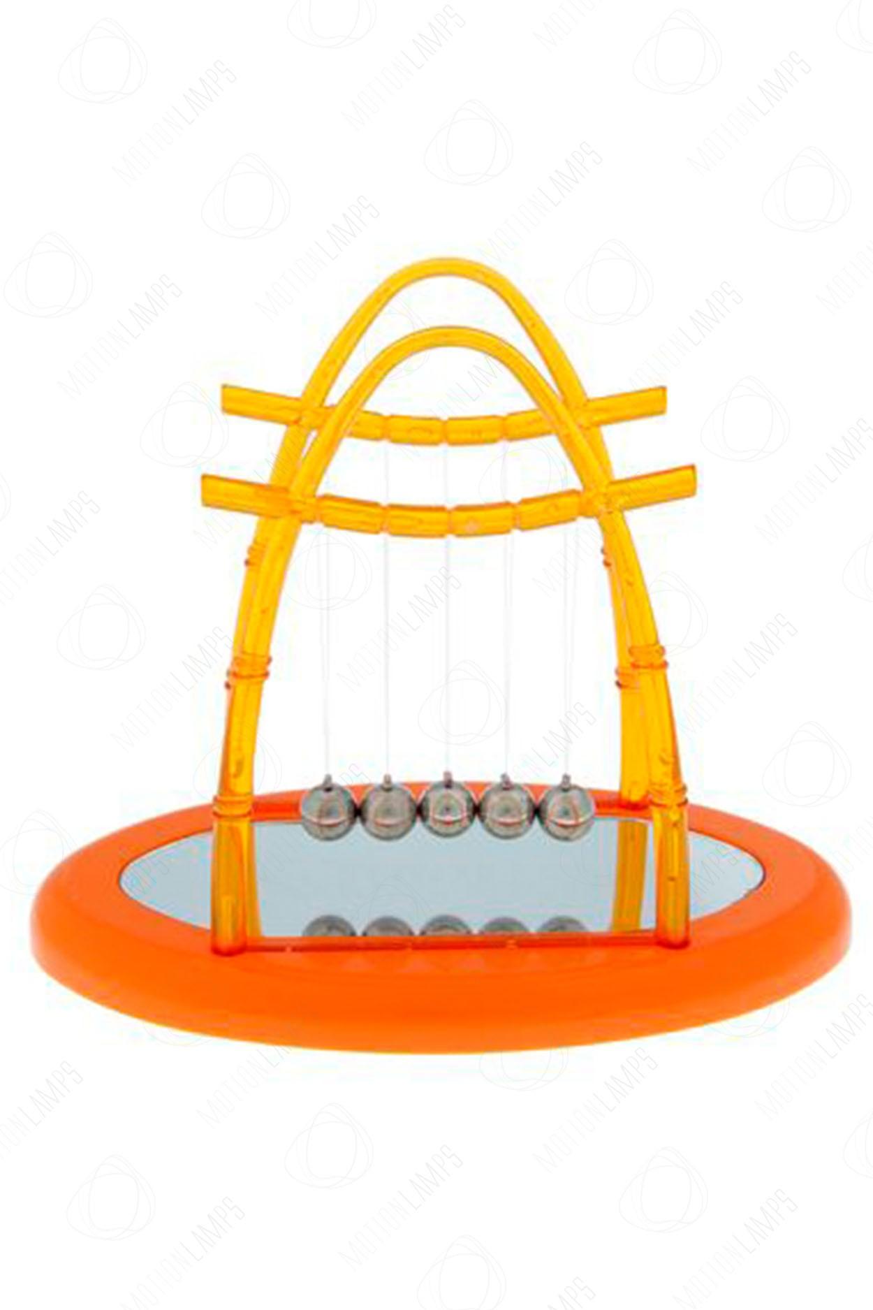 Кинетический маятник Ньютона A1 15см оранжевый