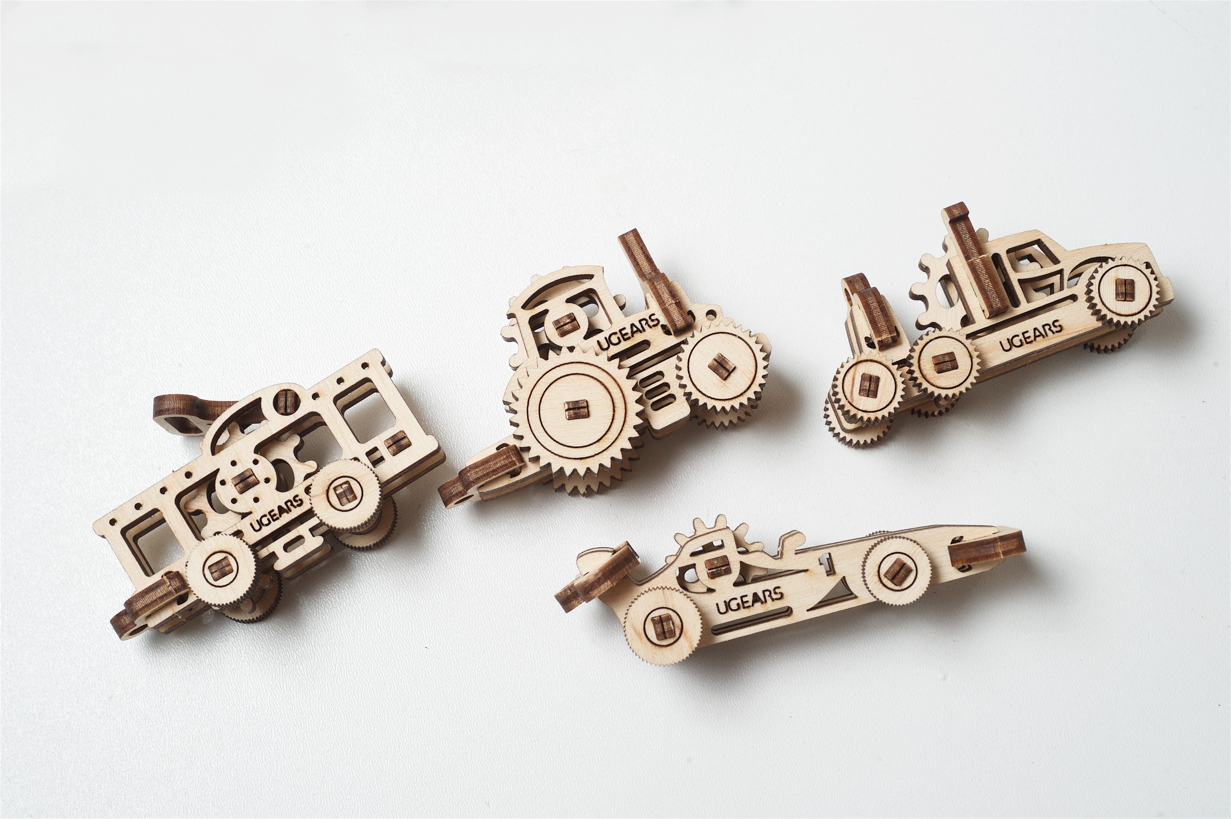 Конструктор 3D-пазл Ugears - Трибики (4 шт.)