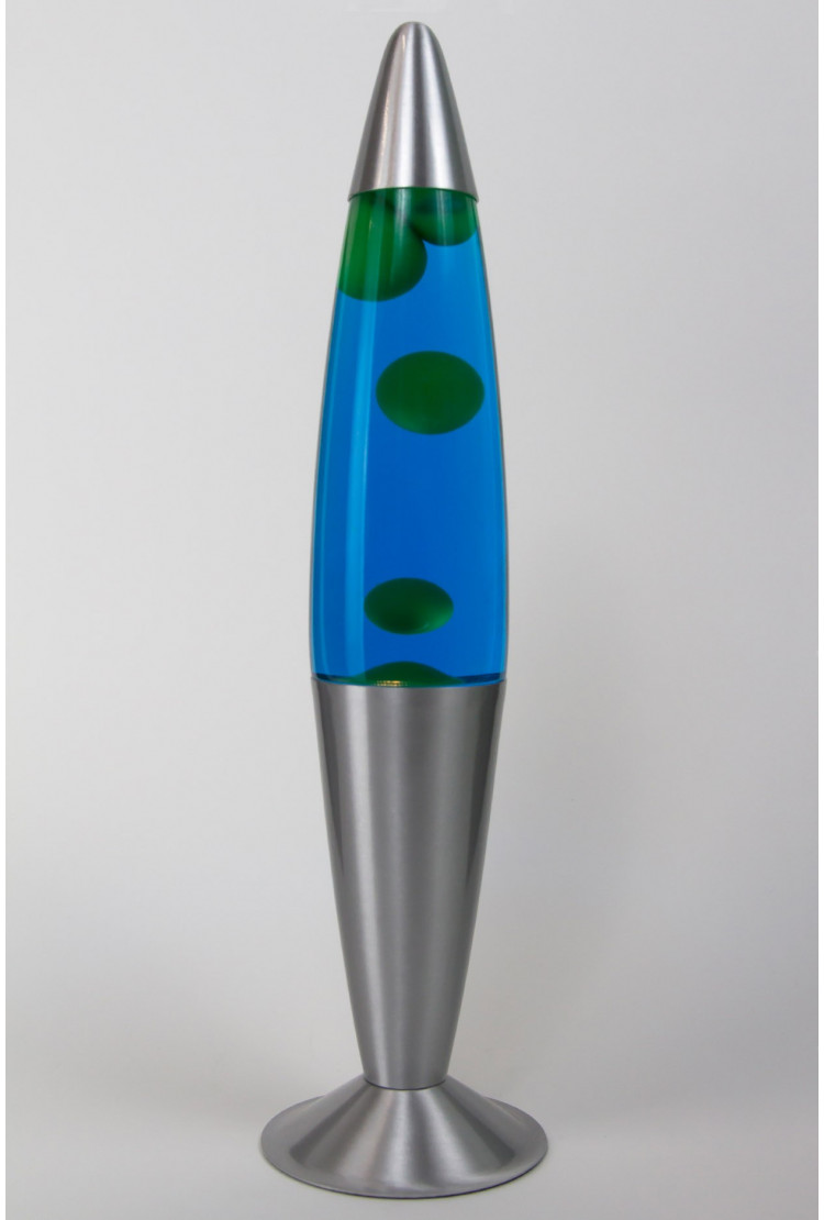 Лава-лампа 41см Зелёная/Синяя (Воск)