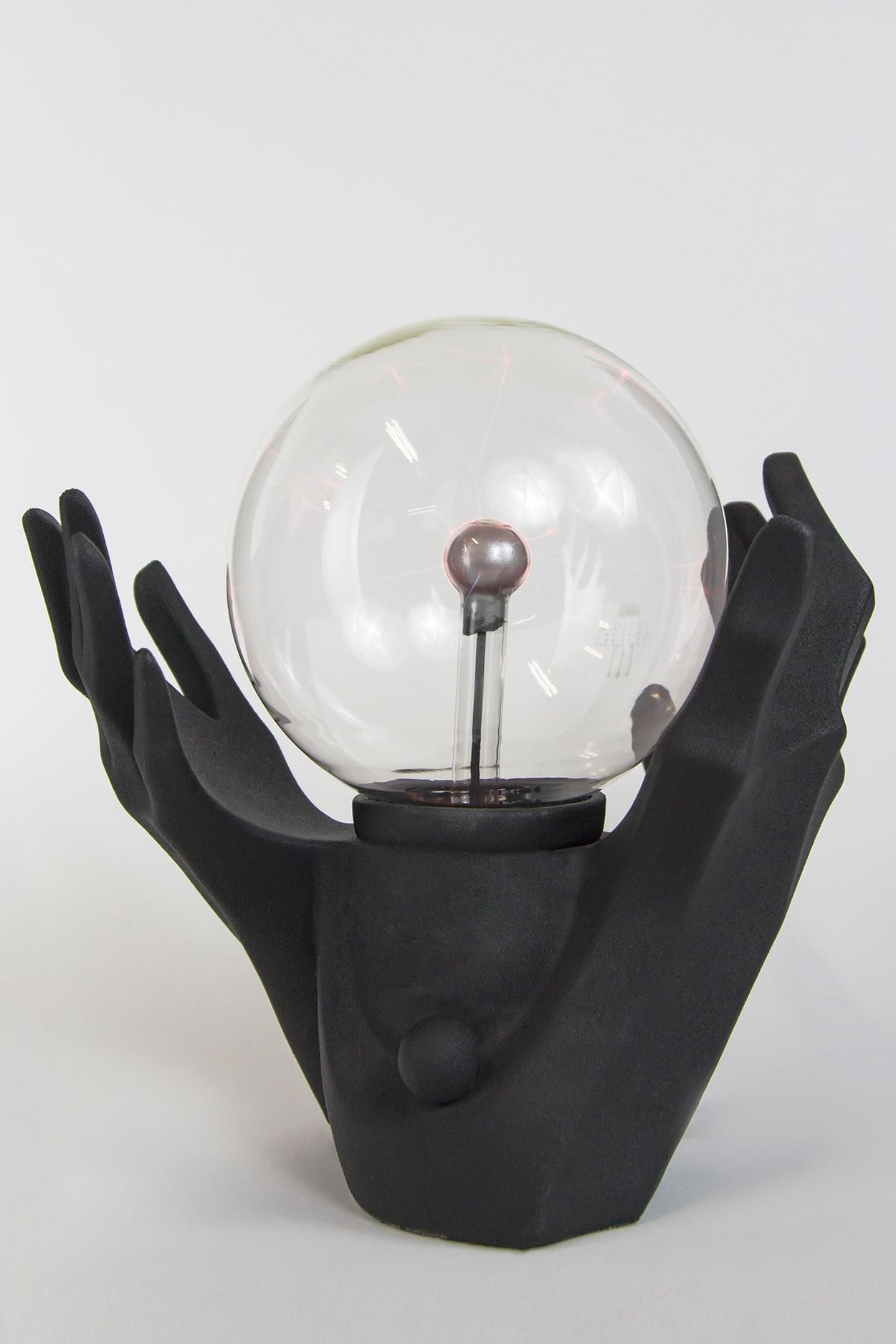 """Плазменный шар """"Руки"""" (16см) черный"""