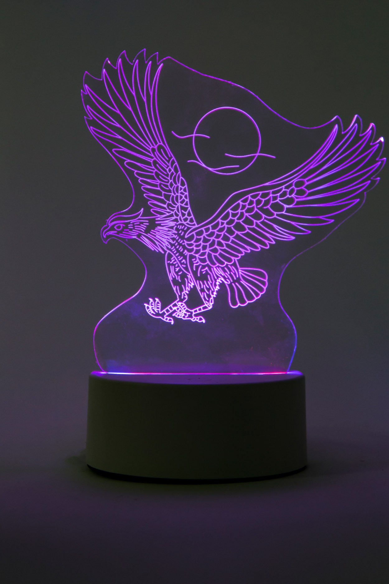 3D ночник Орёл 3 цвета