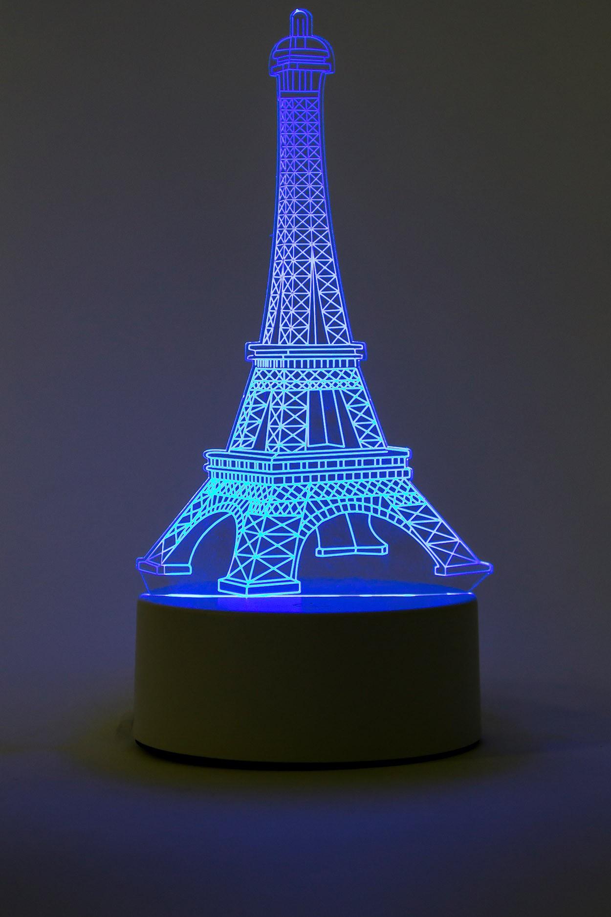3D светильник Эйфелева башня 3 цвета