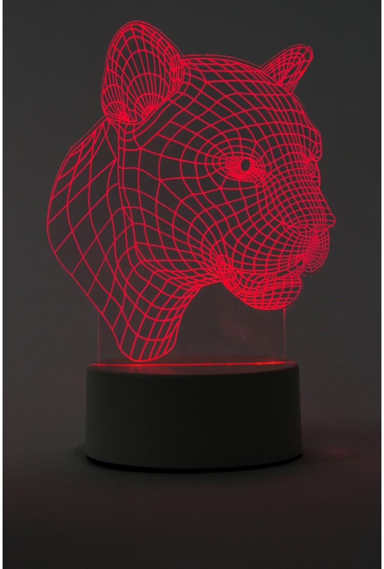 3D Led лампа Пантера 3 цвета