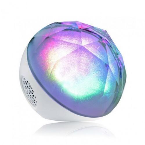 Цветомузыкальная Bluetooth колонка Color Ball белая