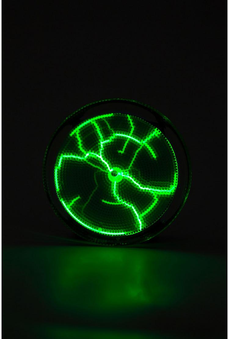 Карманный плазменный диск Тесла Зелёный (Pocket) D - 7см