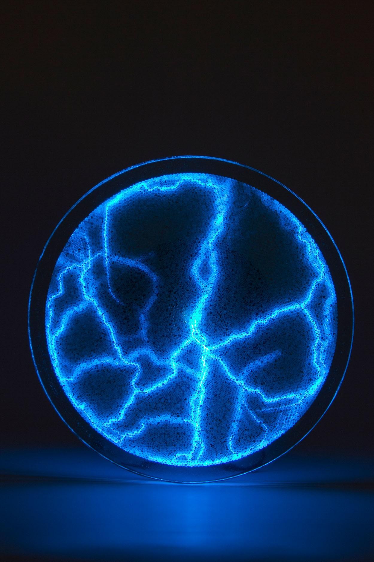 Электрический плазменный диск Тесла Синий D - 20см