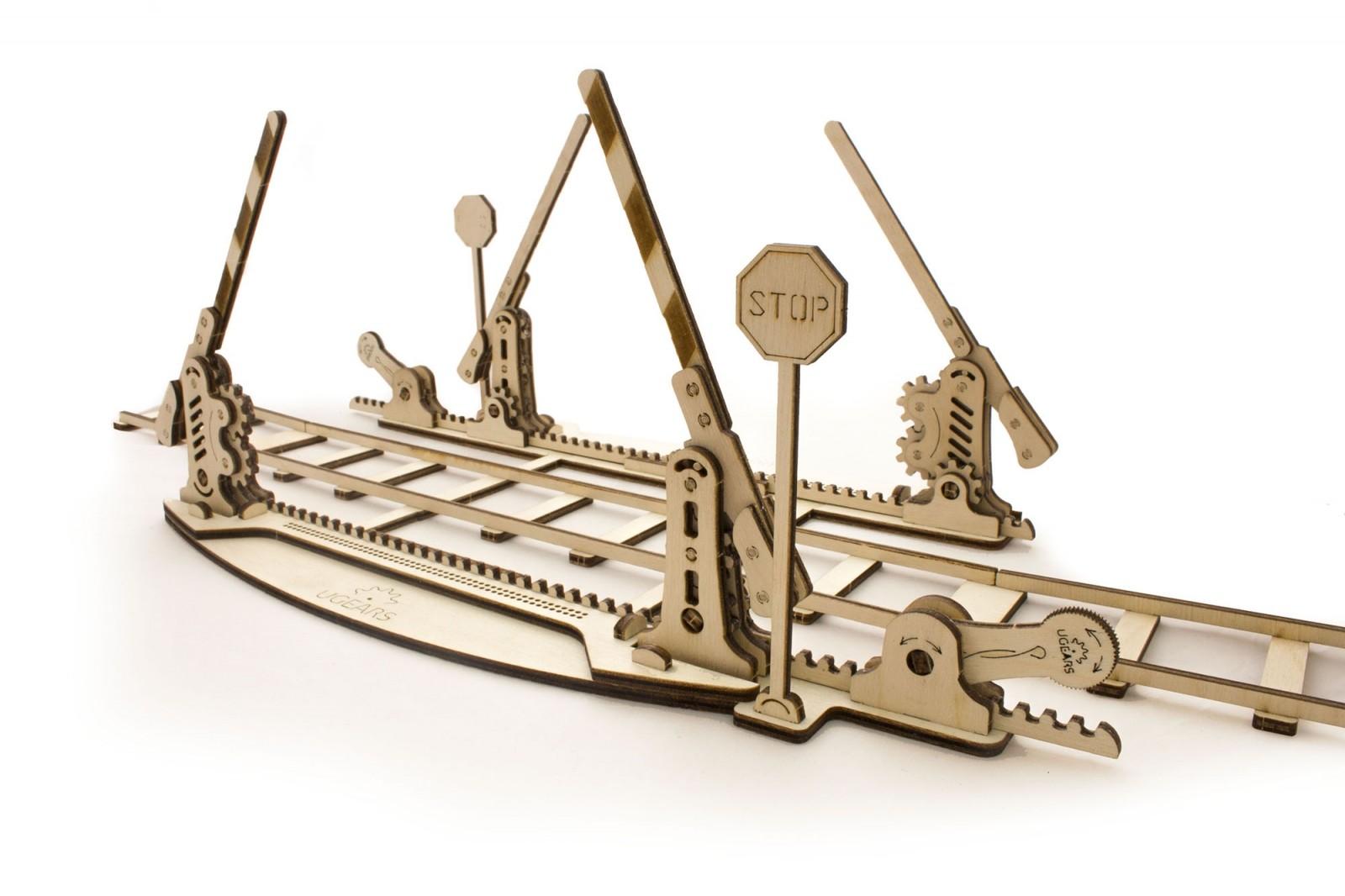 Сборная модель Ugears Переезд (с рельсами)