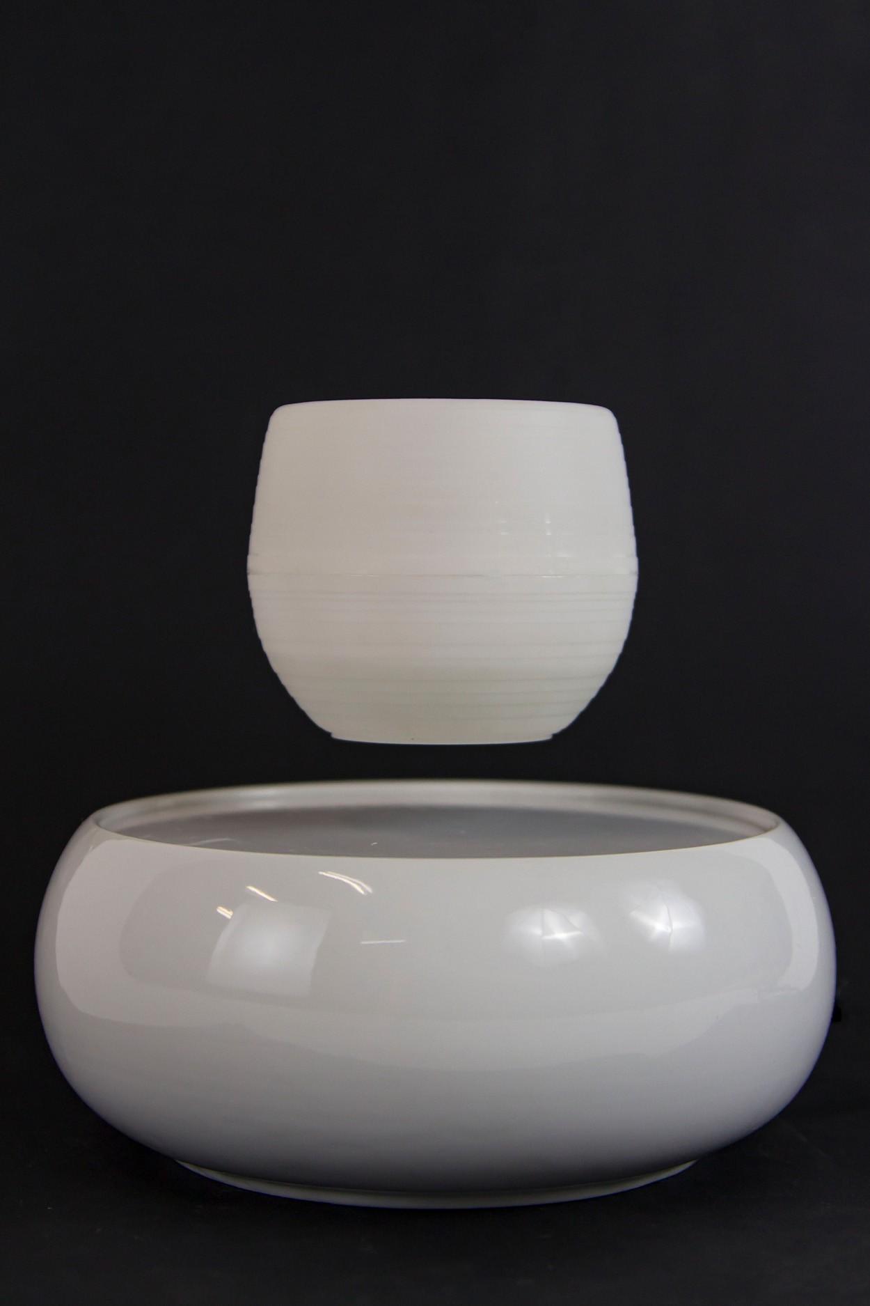 Левитирующий горшок - керамика - белый