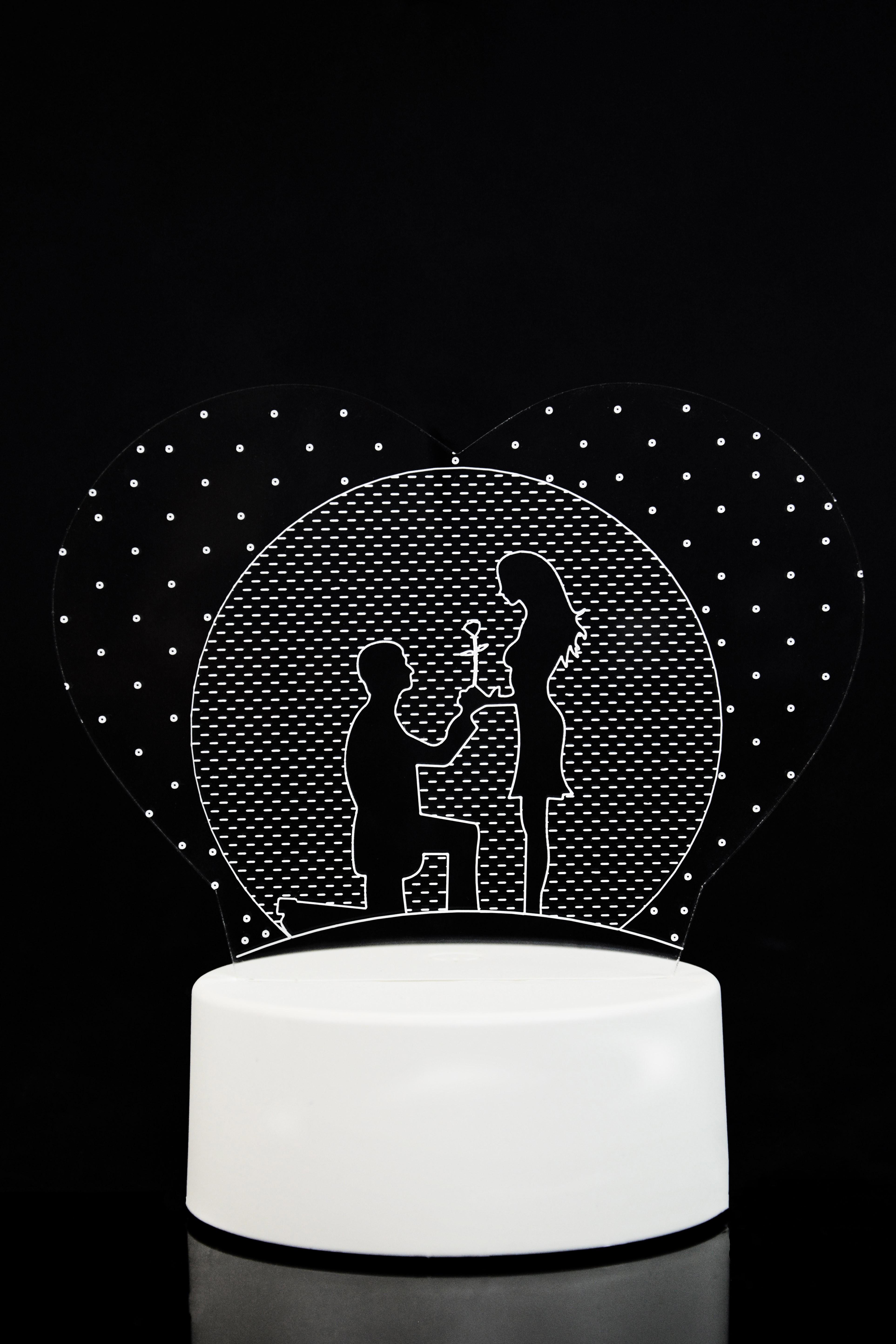 3D ночник Признание 3 цвета