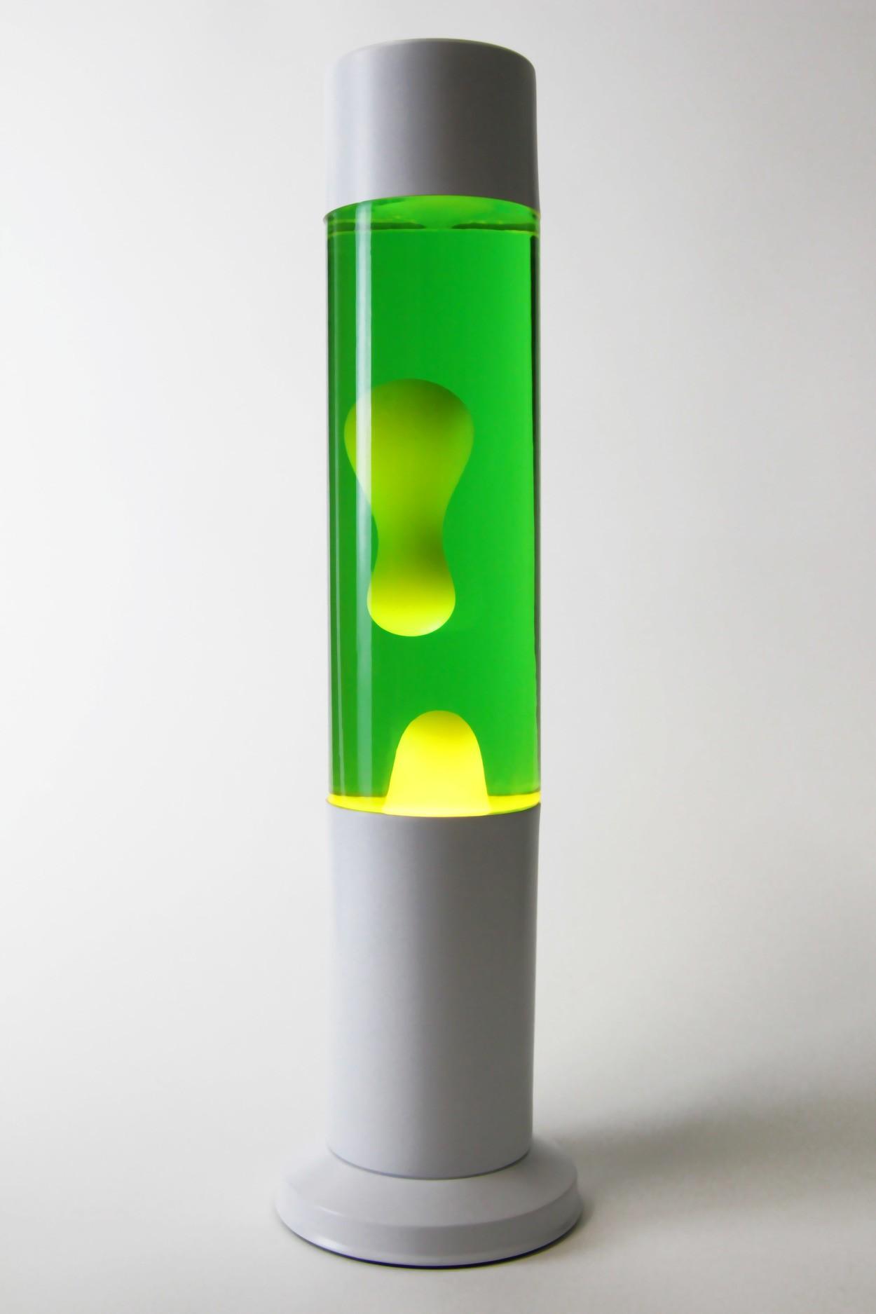 Лавовая лампа 38см CL Зелёная/Жёлтая (Воск)