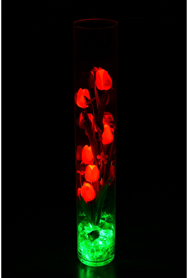 Ночник светящиеся тюльпаны 9шт Красные(зел)