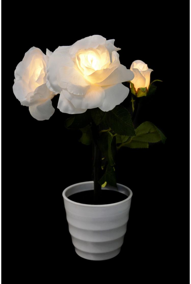 Светодиодный светильник Роза 3шт (белая)