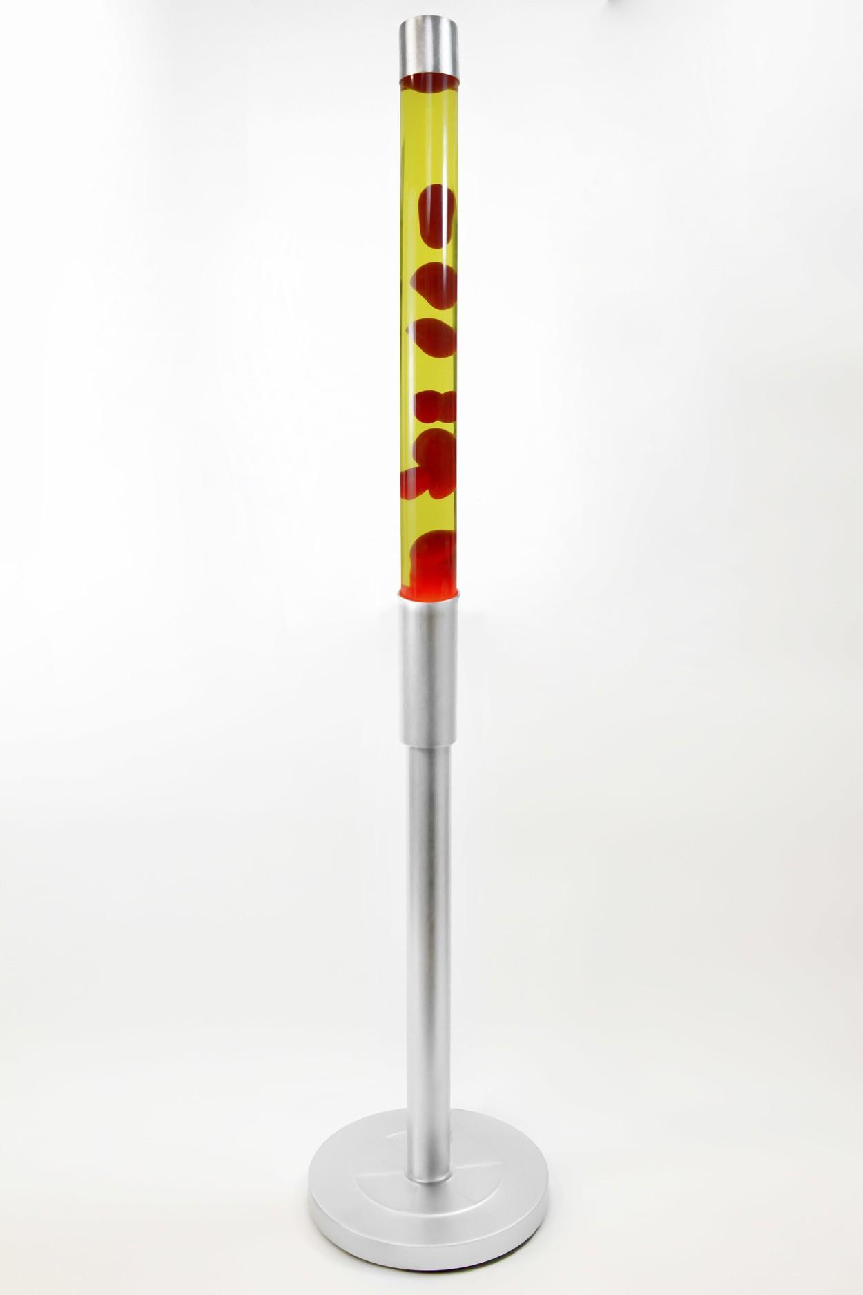 Напольная лава-лампа 129см Красная/Жёлтая (Воск)