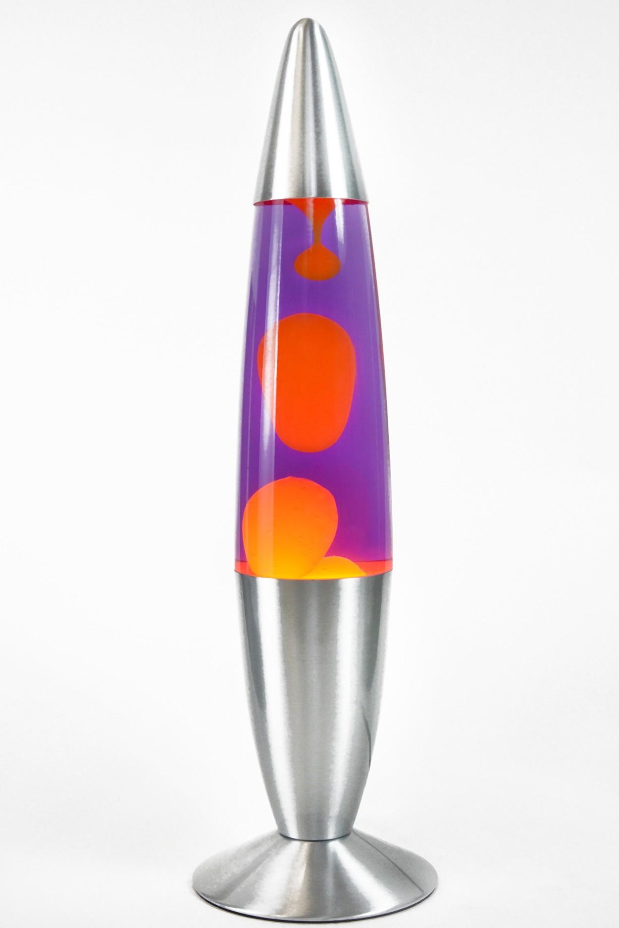 Лава-лампа 48см Оранжевая/Фиолетовая (Воск)