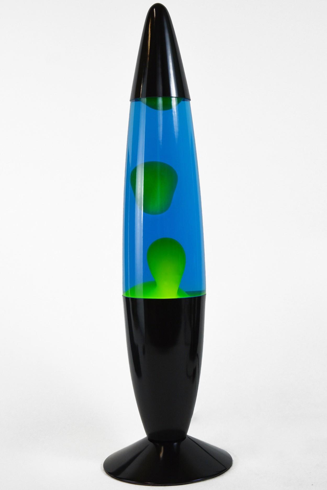 Лава-лампа 48см Желтая/Синяя (Воск) Black