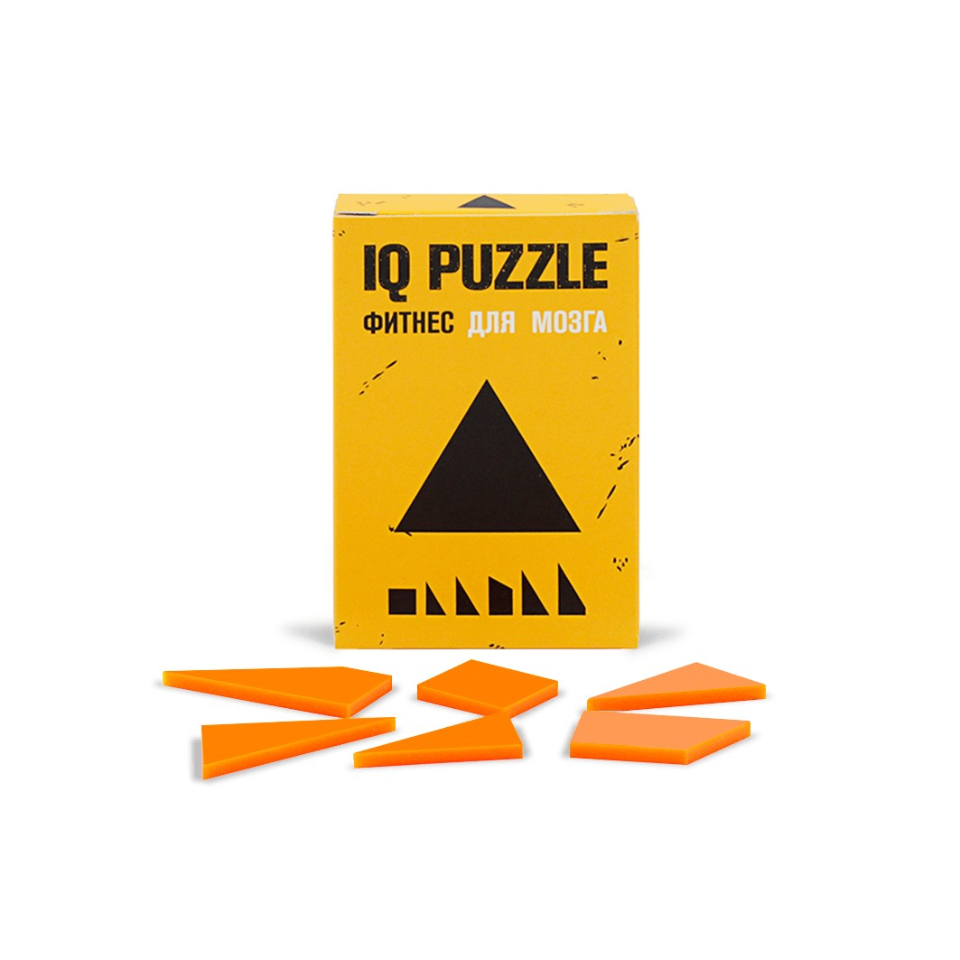 IQ PUZZLE Треугольник (6 деталей)
