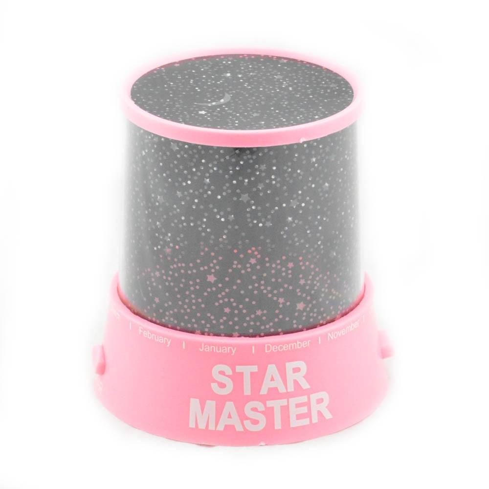 Ночник-проектор  «Star Master» Розовый (с USB-кабелем)