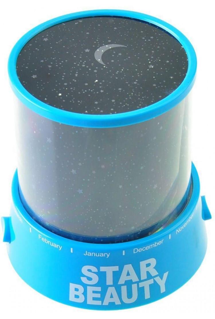 Ночник звездного неба «Star Master» Голубой (с USB-кабелем)