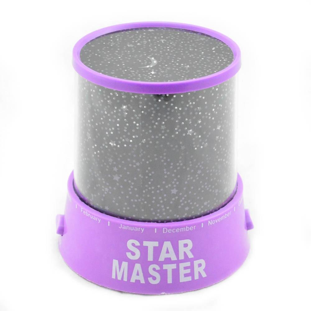 Ночник звездного неба «Star Master» Фиолетовый (с USB-кабелем)