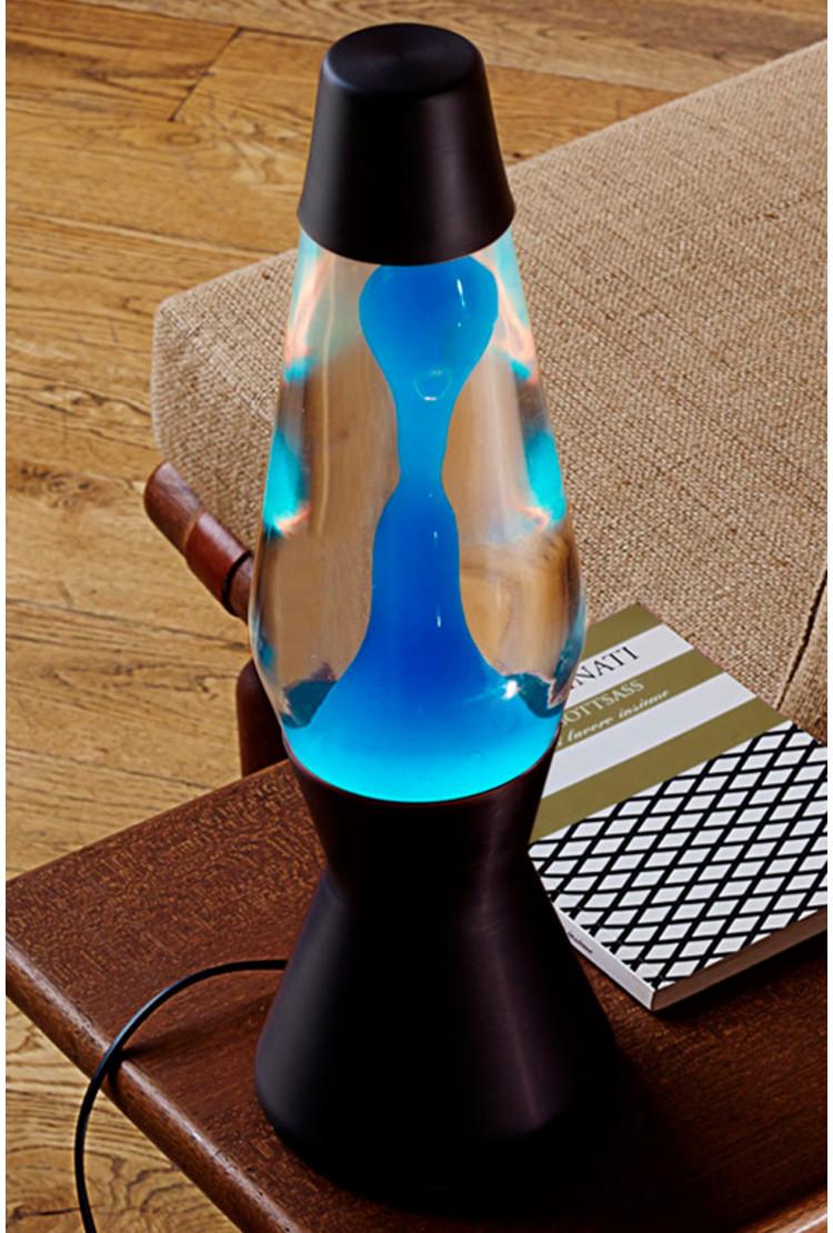 Лава-лампа Mathmos Astro Синяя/Прозрачная Matt Black(Воск)