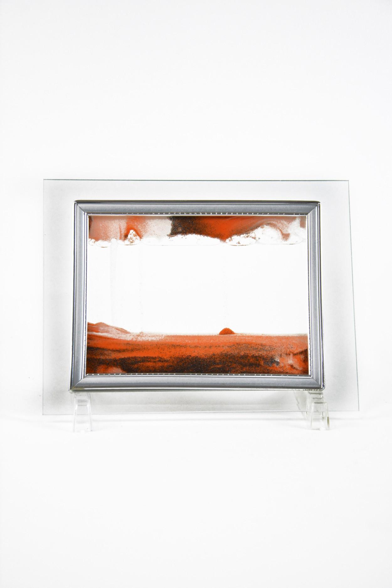 """Песочная картина """"Живой пейзаж"""" 13х17 оранжевая"""