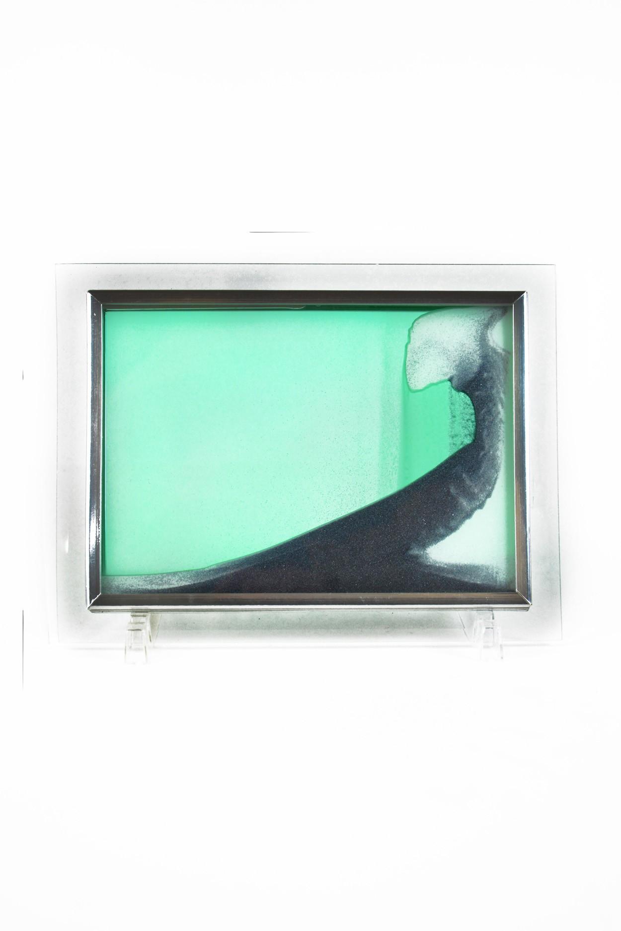 "Песочная картина ""Живой пейзаж"" 18х22 зелёная"