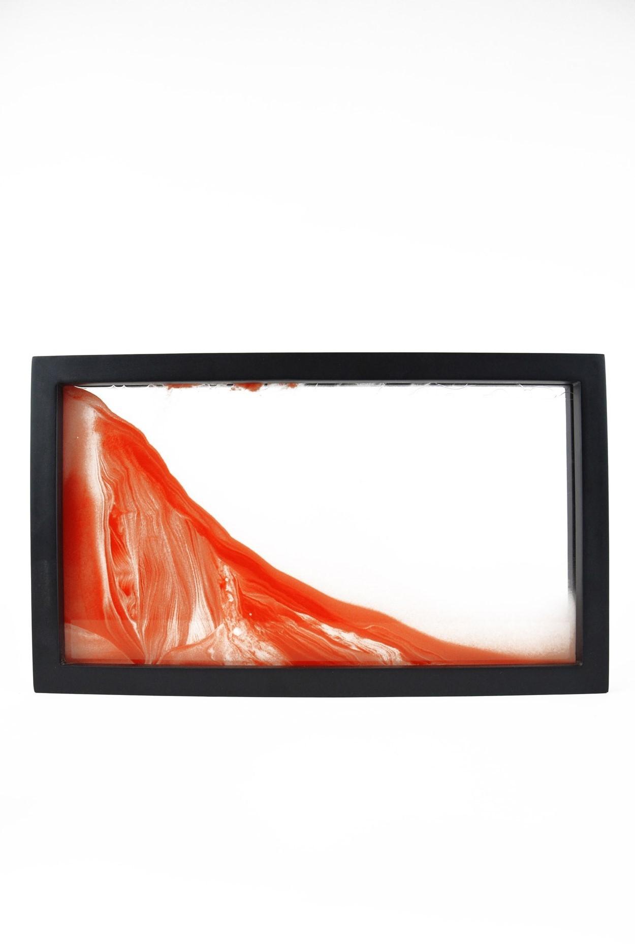 """Песочная картина """"Живой пейзаж"""" 23х39 оранжевая"""