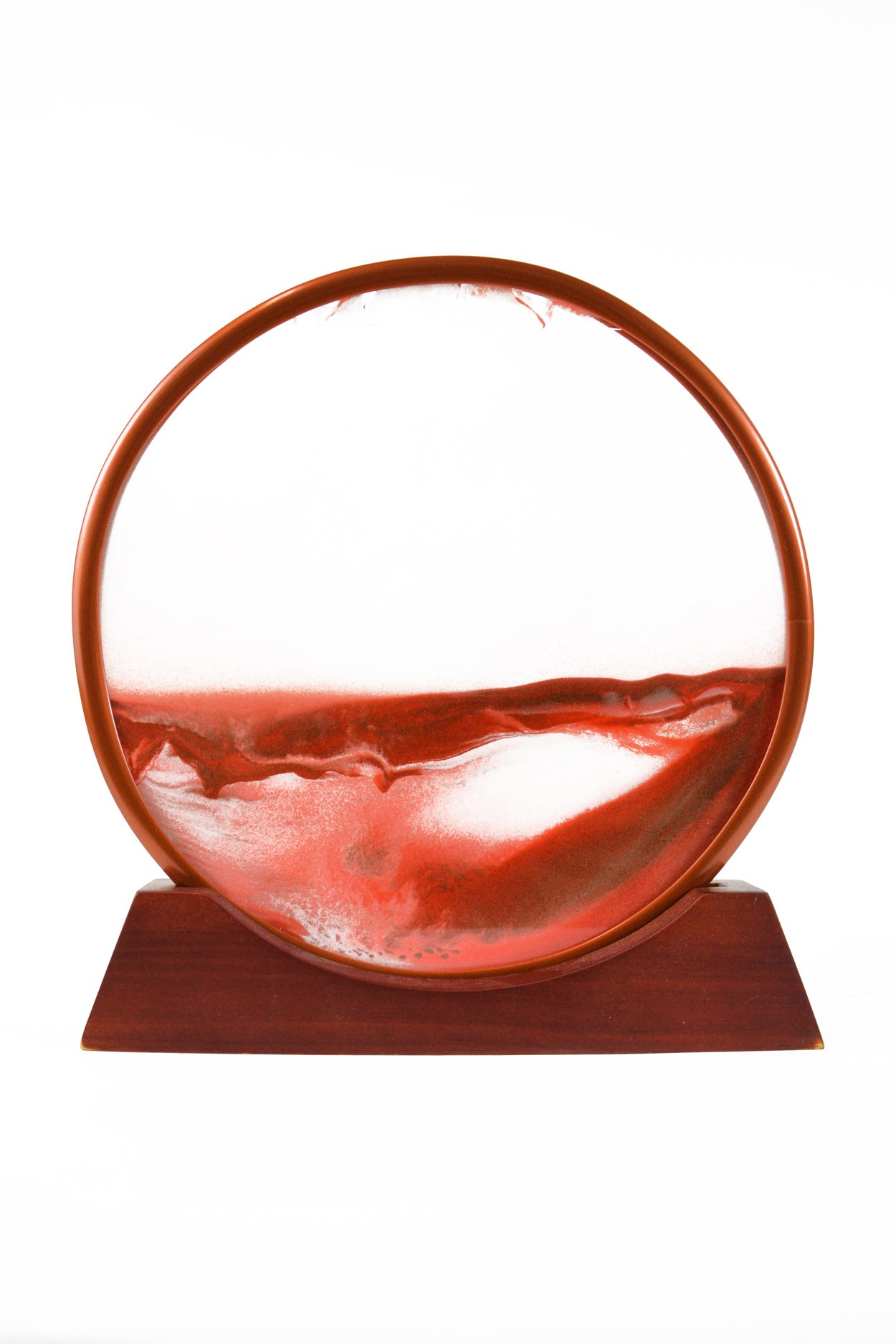 """Песочная картина """"Живой пейзаж"""" круглая D27 красная"""