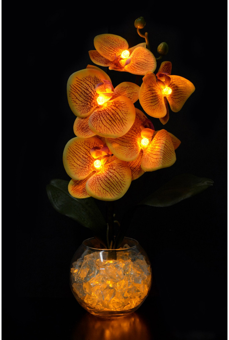 Светильник Орхидея Золотая 5 цветков
