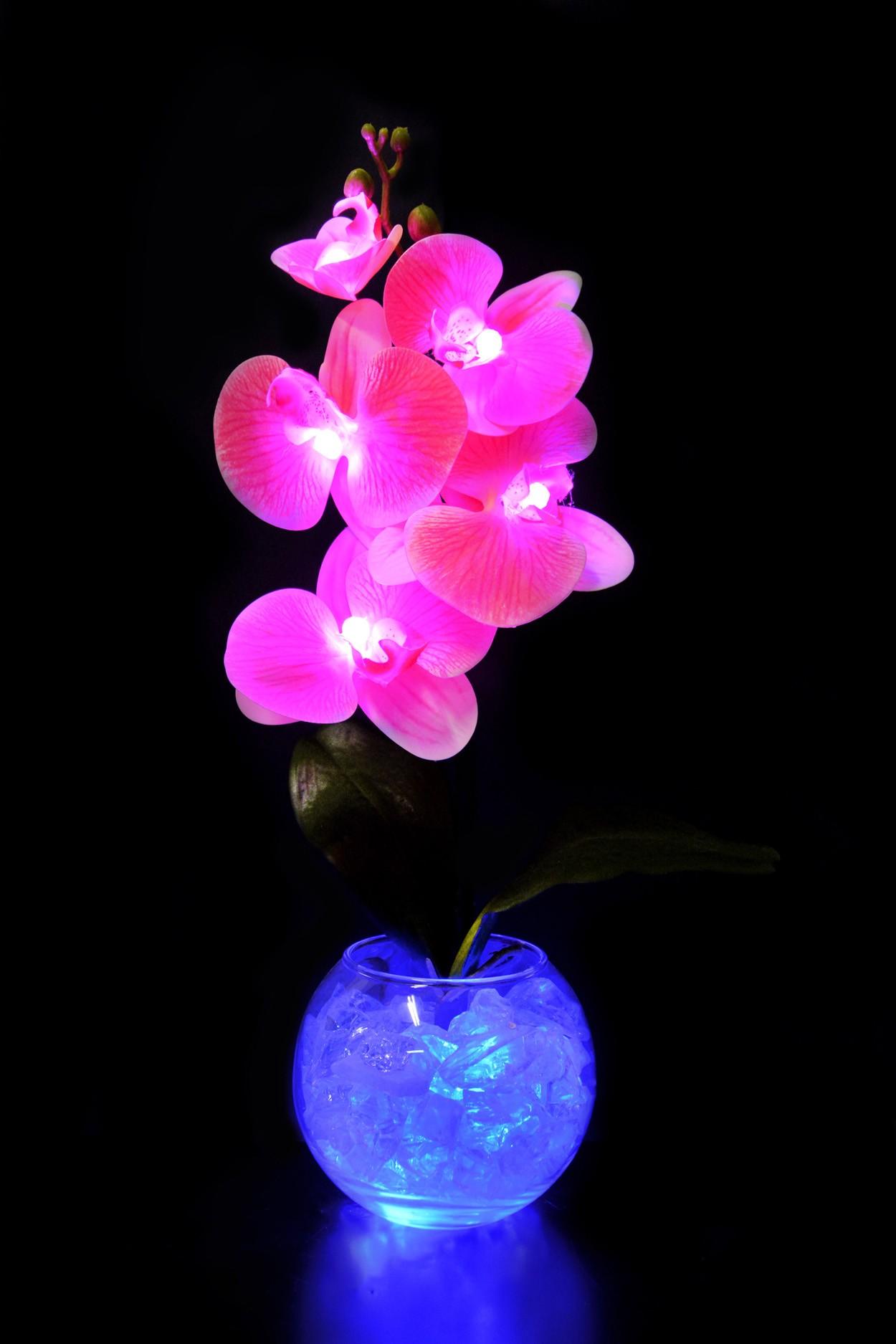 Светильник Орхидея Розовая (син) 5 цветков